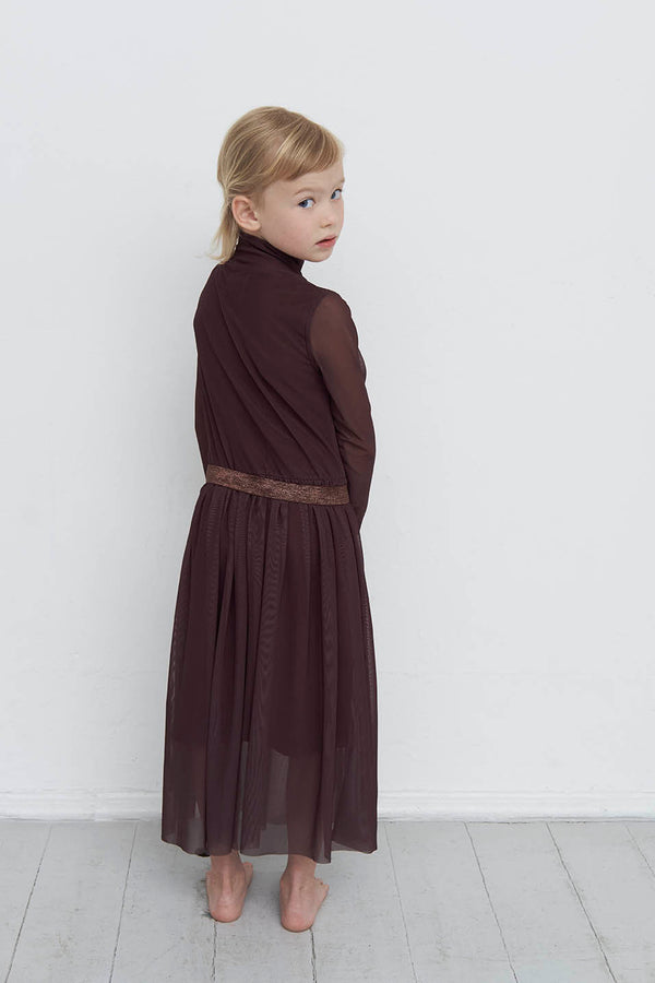 1628 TOVE - TURTLE NECK LONG DRESS