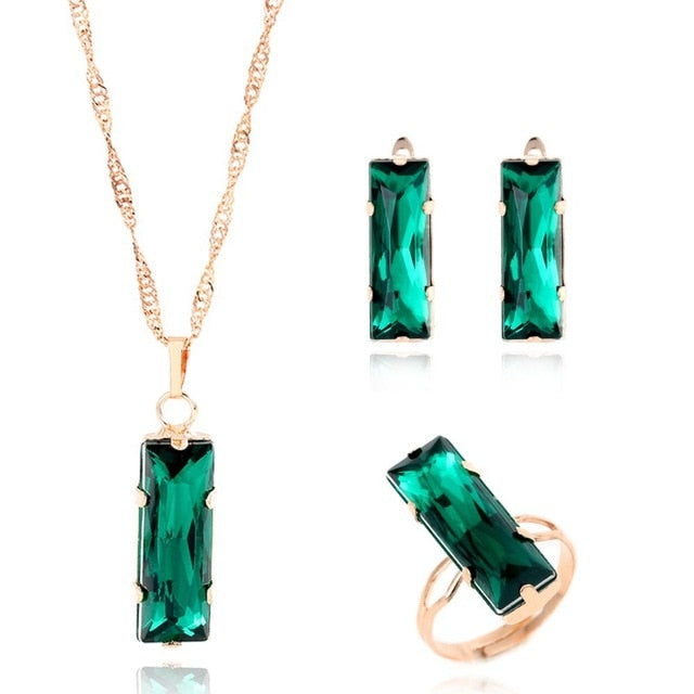 Emerald Gold Pendants ( Earrings & Rings)