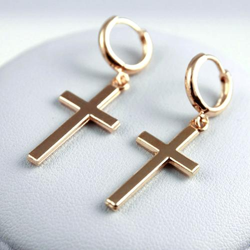 Punk Cross Pendant Earrings