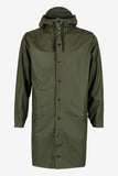 RAINS Long Jacket - Green Men's - La Luce - 3