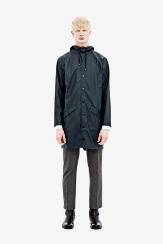 RAINS Long Jacket - Blue Men's, Raincoats - La Luce