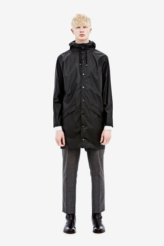 RAINS Long Jacket - Black Men's, Raincoats - La Luce