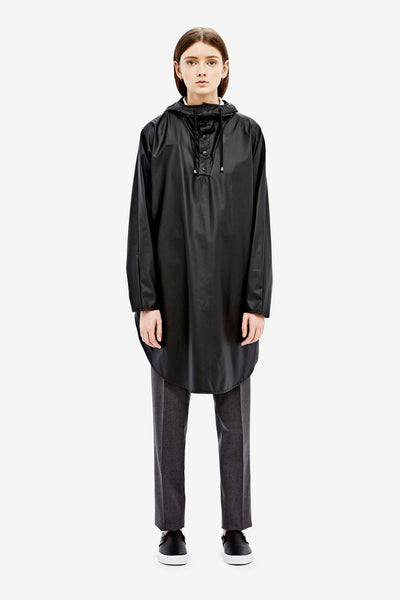Rains Poncho - Black, Raincoats - La Luce