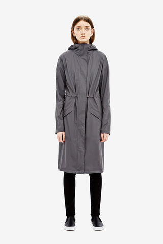 RAINS Noon Coat - Smoke - La Luce - 2