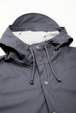 RAINS Long Jacket - Smoke