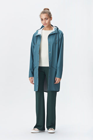 RAINS Long Jacket - Pacific
