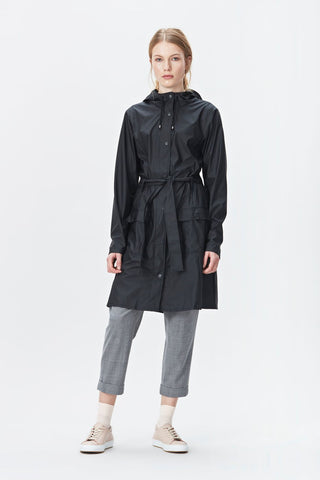 Rains Curve Jacket - Black, Raincoats - La Luce