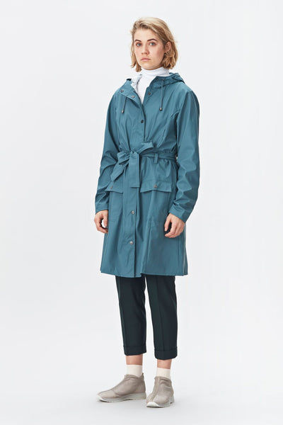 RAINS Curve Jacket - Pacific