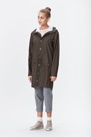 RAINS Long Jacket - Brown