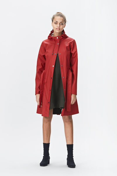 Rains Curve Jacket - Scarlet, Raincoats - La Luce