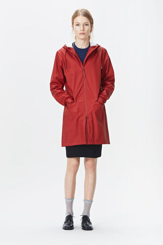 RAINS W Coat - Scarlet