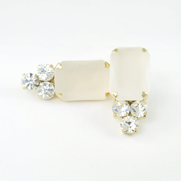 CATERINA MARIANI BIJOUX White Earrings, Earrings - La Luce