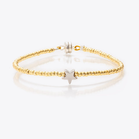 MINNIE GRACE Gold Beaded Star charm friendship bracelet, Bracelet - La Luce