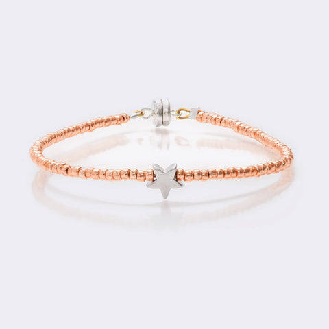 MINNIE GRACE Rose-Gold Beaded Star charm friendship bracelet, Bracelet - La Luce