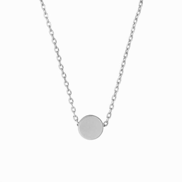 MINNIE GRACE Silver Dot charm necklace, Necklace - La Luce