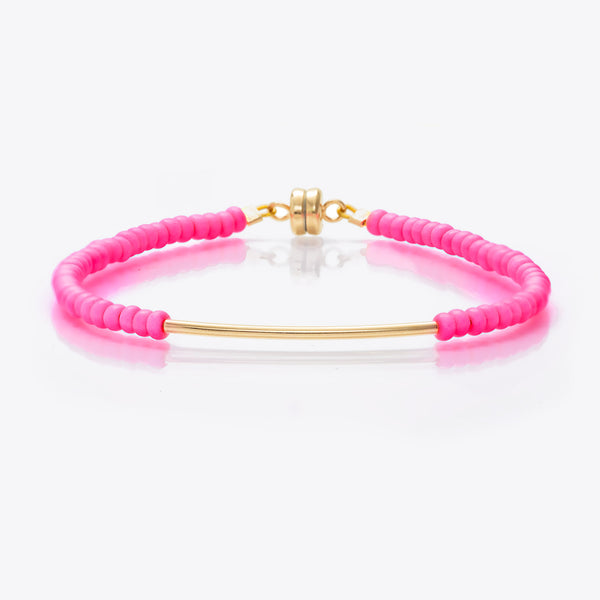 MINNIE GRACE Neon beaded friendship bracelet, Bracelet - La Luce