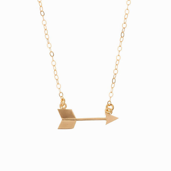 MINNIE GRACE gold Arrow charm necklace, Necklace - La Luce