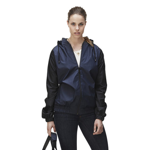 RAINS Bomber - Black/Blue, Raincoats - La Luce