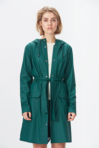 Rains Curve Jacket - Dark Teal, Raincoats - La Luce