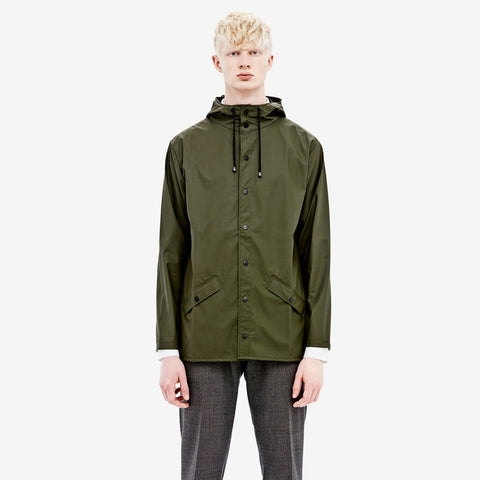 RAINS Green Jacket men's, Raincoats - La Luce