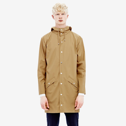 RAINS Long Jacket - Khaki Men's, Raincoats - La Luce