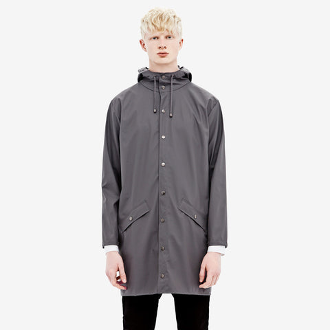 RAINS Long Jacket - Smoke Men's, Raincoats - La Luce