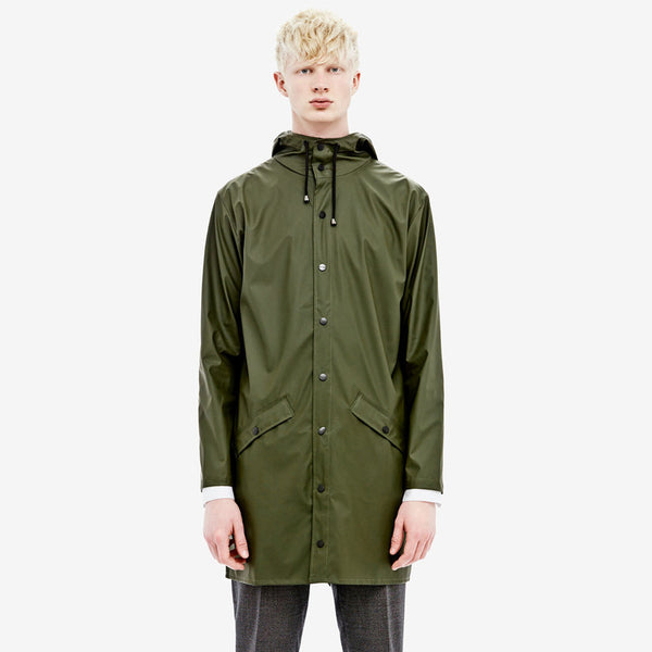 RAINS Long Jacket - Green Men's, Raincoats - La Luce