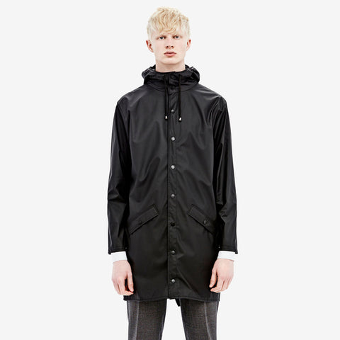 RAINS Long Jacket - Black Men's - La Luce - 1