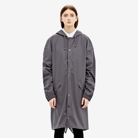 RAINS Loose-fit Jacket - Smoke - La Luce - 1
