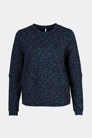 Ready to fish by Ilja Viser - Tulipa Blue Melange Sweater, Sweaters - La Luce