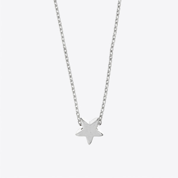 MINNIE GRACE silver Star charm necklace, Necklace - La Luce