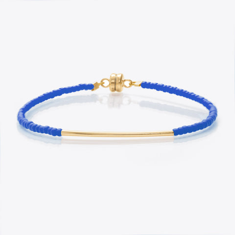 MINNIE GRACE Blue beaded friendship bracelet, Bracelet - La Luce