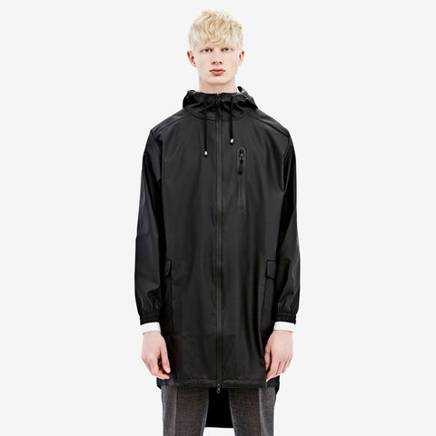 RAINS - Black Parka men's, Raincoats - La Luce