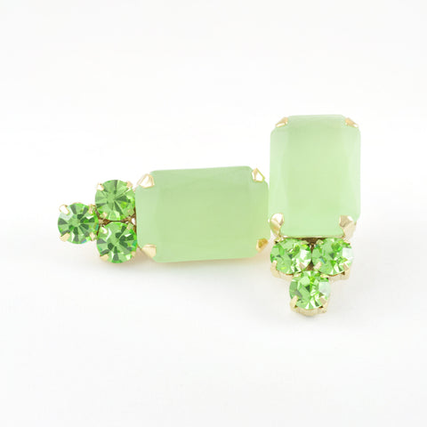 CATERINA MARIANI BIJOUX Green Earrings, Earrings - La Luce
