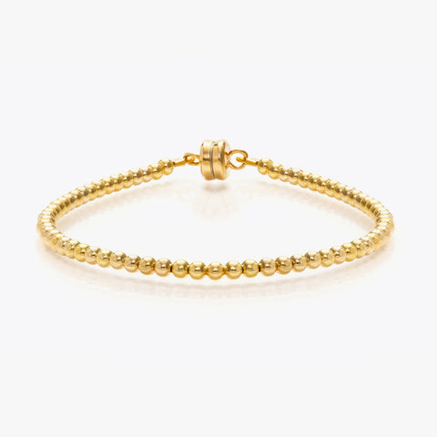 MINNIE GRACE Delicate Gold beaded friendship bracelet, Bracelet - La Luce