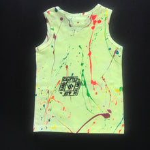 Load image into Gallery viewer, Yellow Splash Singlet - Age 3-4