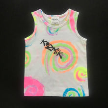 Load image into Gallery viewer, Multicolour Swirl Singlet - Age 3-4