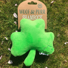 Load image into Gallery viewer, Woof and Purr shamrock toy