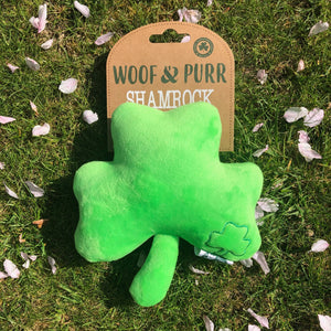 Woof and Purr shamrock toy
