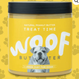 Woof butter peanut butter Treat Time