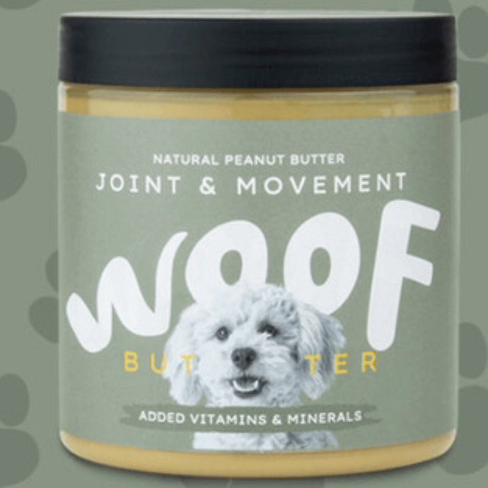 Woof butter peanut butter Joint & Movement
