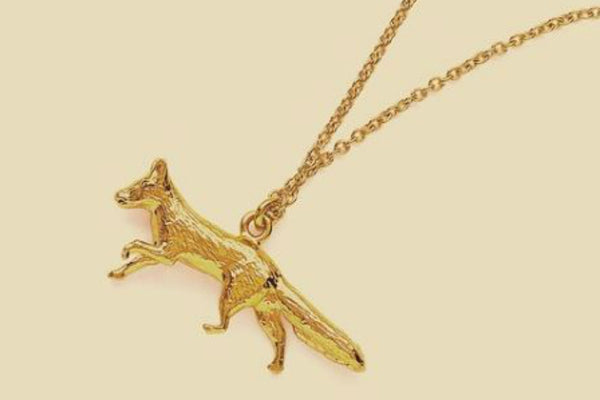 Prowling Fox Gold Plated Necklace - Peter Hall & Son
