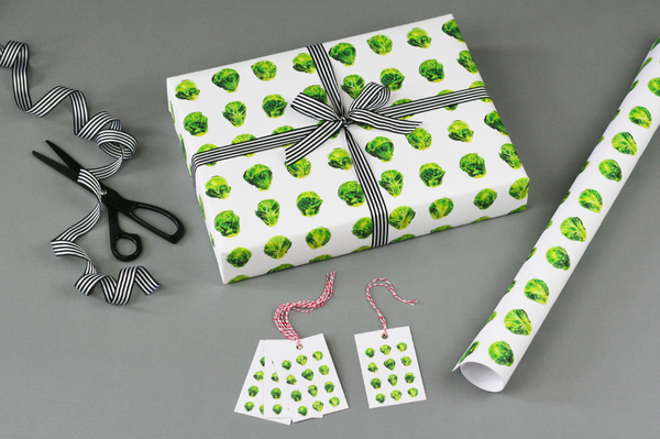 Brussel Sprout Wrapping Paper - Peter Hall & Son