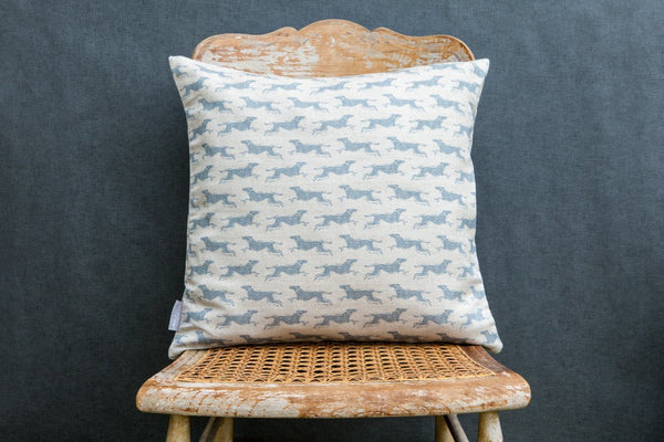 Fast Dog Square Linen Cushion - Peter Hall & Son