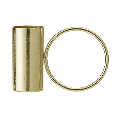 Gold Circle Candle Holder with candle - Peter Hall & Son