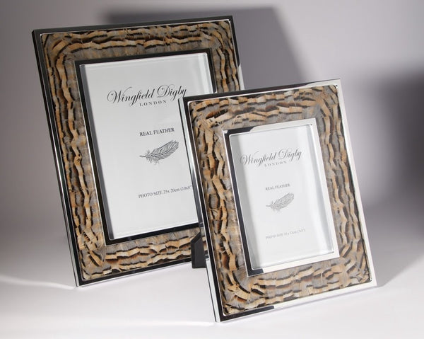 Partridge Feather Photo Frame - Peter Hall & Son
