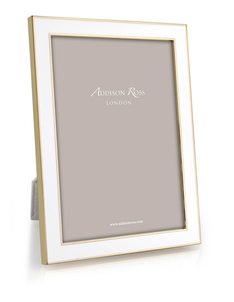 Gold and White Photo Frame