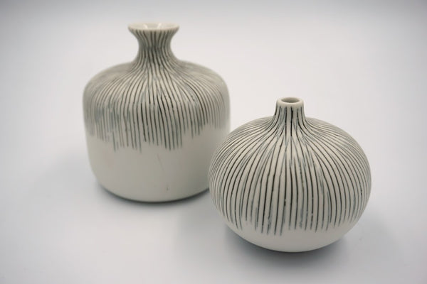 Small Bottle Vase Grey - Peter Hall & Son