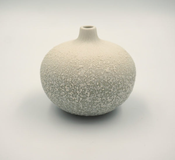Medium Bari White Vase - Peter Hall & Son