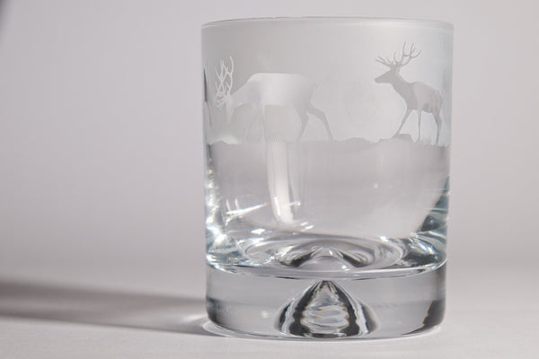 30cl Whisky Tumbler Stag Design - Peter Hall & Son